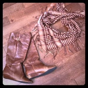 Brown Steve Madden Wedge Boots!!